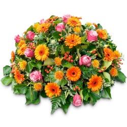 coussin de fleurs de deuil