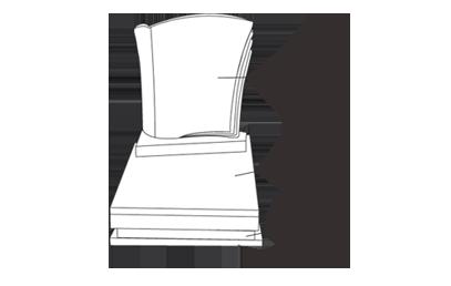 graphique avec les différentes parties d'un monument funéraire - tombale, soubassement, semelle, stèle