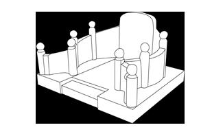 modèle complexe de tombe